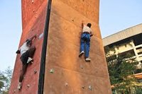 Rock wall training at Yubabharati Kriangan, Salt Lake, India