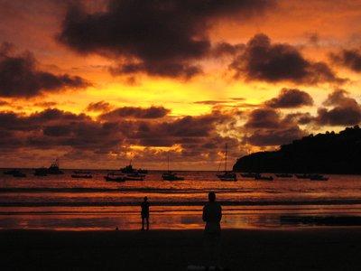 San Juan del Sur solnedgang