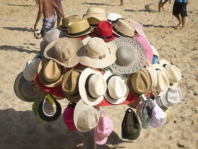Hats on the Beach