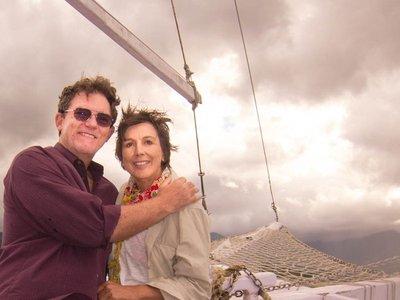 Joy and Pat on the schooner