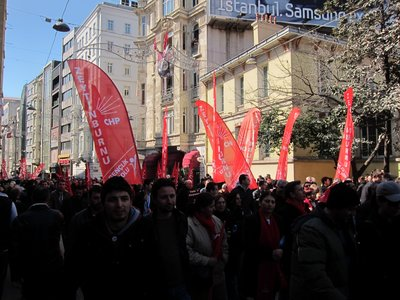 Protests demonstration against arrest of journalist on Istiklal