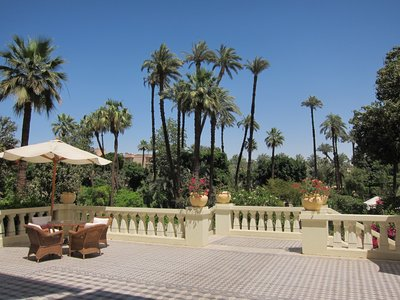 Winter Palace in Luxor overlooking the garden