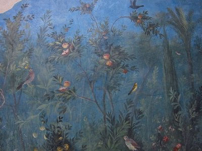 Lydia's Garden Room fresco from her Villa in National Museum in Rome