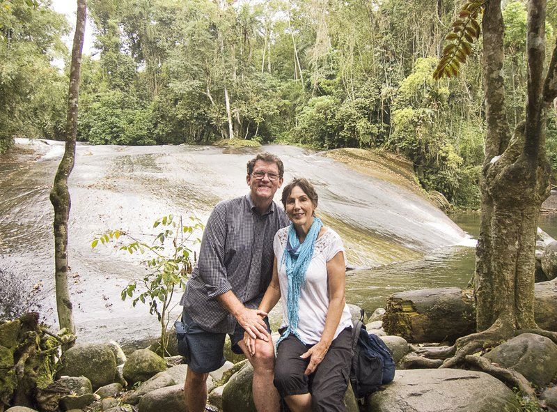 Joy and Pat at the Toboga Falls