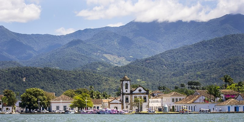View of Paraty from the schooner