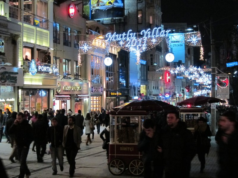 Istiklal lights at New Year's 2010