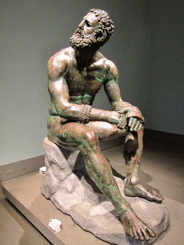 Boxer, bronze statue found in Rome