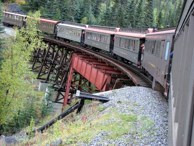 Riding the White Pass Train - Skagway Alaska