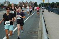 Tufts 10K, half way: Harvard bridge