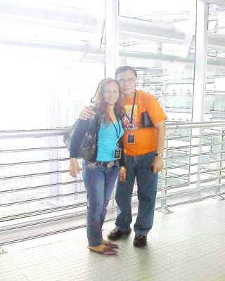 on the bridge of Petronas Towers