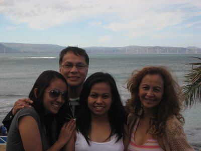 my family on the highest cliff of Pagudpud