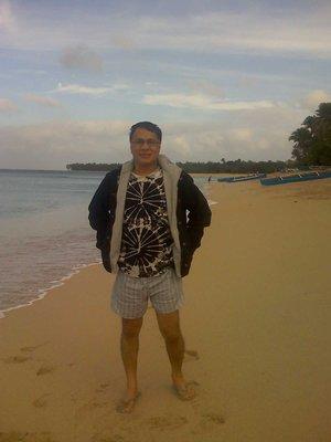 on the beach of Pagudpud
