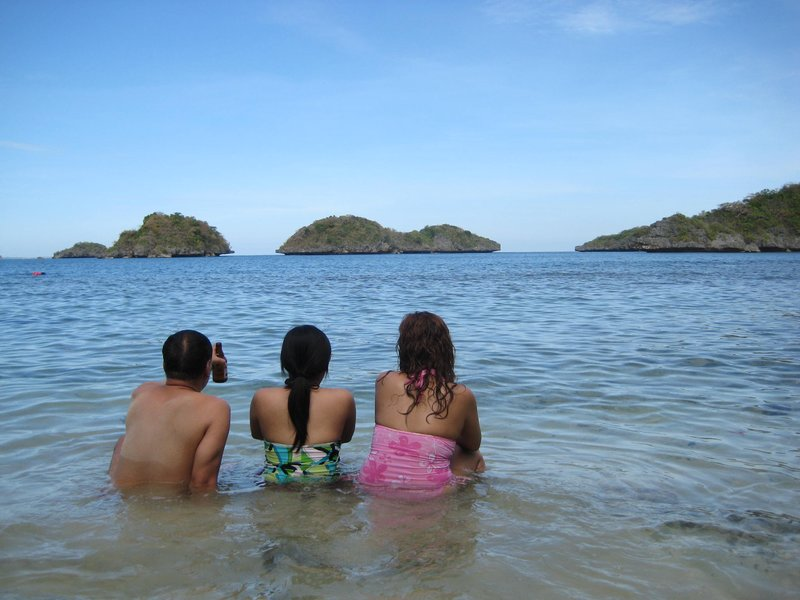 On the beach, Quezon Island, Hundred Islands