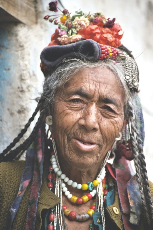 drokpa lady in Ladakh - India