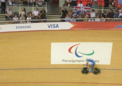 2012 09 01 Paralympic Symbol and Bike in Velodrome
