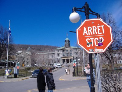 Stop or Arret, whatever.