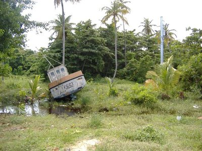 Abandoned boat, Pigeon Point, Tobago