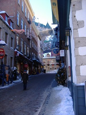 Small Street near Place Royale, Quebec City