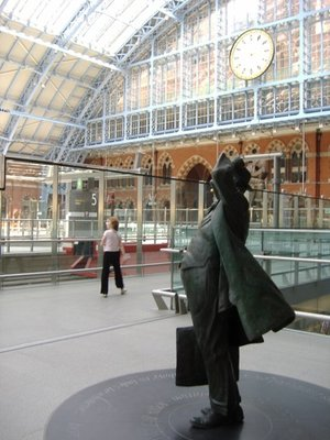 St Pancras Man and Clock