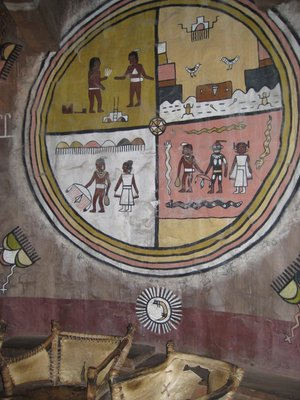 Hopi Indian Art on walls of Desert View Tower