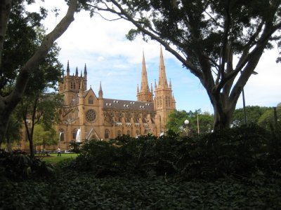 St. Mary's Cathedral, just east of Hyde Park