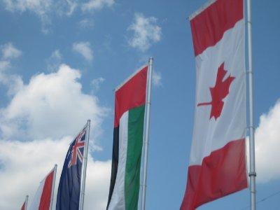 Celebrating the races of F1, including the GP of Canada, with the flags
