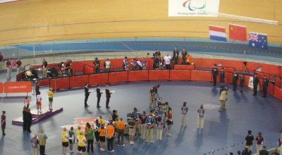 2012 09 01 Medal Ceremony in Velodrome