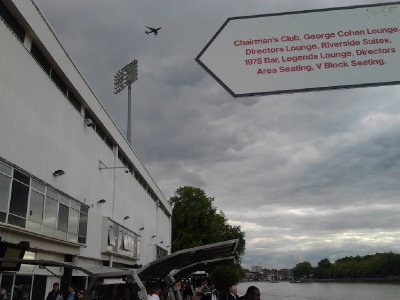 Looking at Riverside Stand, Riverside at Craven Cottage - Fulham FC vs Stoke City