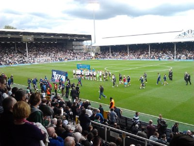 Pre-game introductions - Fulham FC vs Stoke City