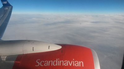 Up in the Air on SAS airlines