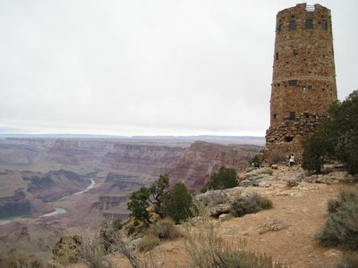 Hopi Observation Tower and Colorado River