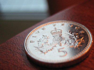 5 Pence piece