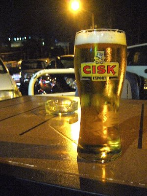 A cool pint of Cisk beer