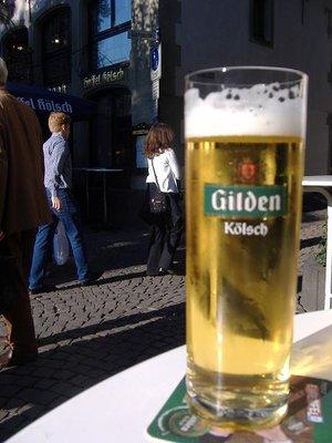 Kolsch beer in the heumarkt