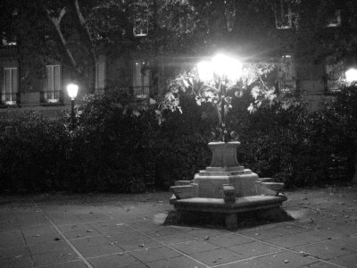 Bench and Lights in Paseo del Prado