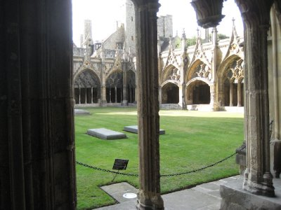The square in the cloister, Canterbury Cathedral