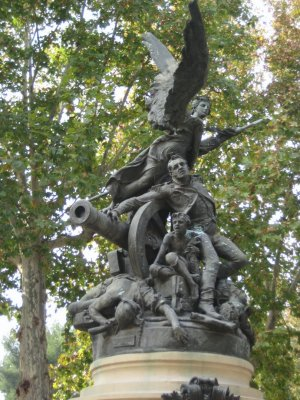 Can you hear the people sing?  Statue near Principe Rio