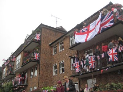 Celebration Flags on Balconies