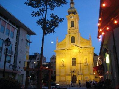 Church on Krisztina at night
