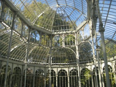 Crystal Palace in Parque de El Retiro interior