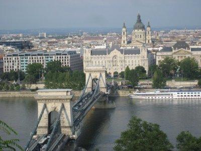 Danube River and Gresham Palace