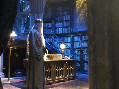 Dumbledore's office on the Harry Potter Studio Tour