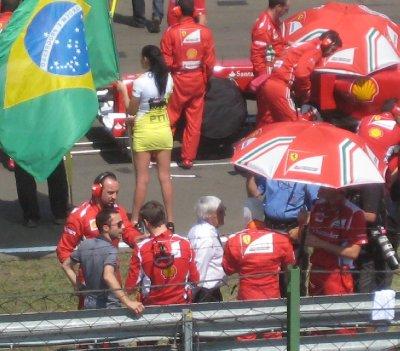Eccelstone and Massa having a chat