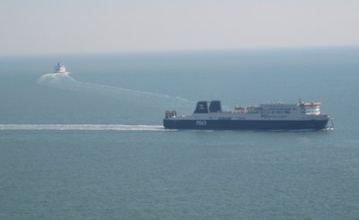 Ferries off the Coast of Dover