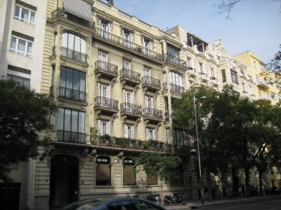 Flats and Balconies along Calle de Almagro