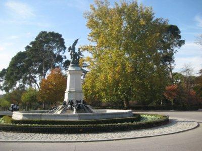 Fountain Glorieta del Angel Ciado in Parque de El Retiro