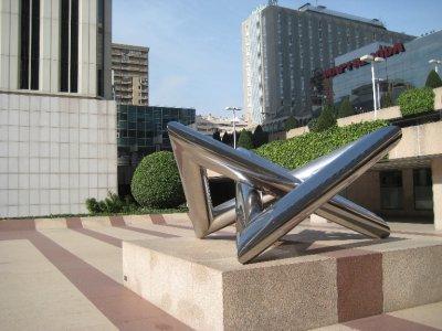Funky Sculpture in Plaza de Pablo Picasso
