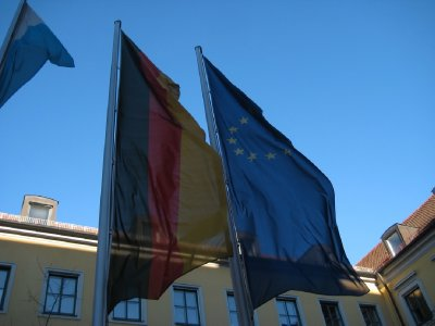 Germany and Euro Flags