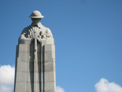 Blue Skies and St. Julien Canadian Memorial