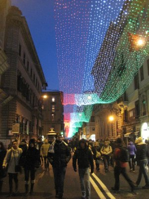 Lights along Via del Corso